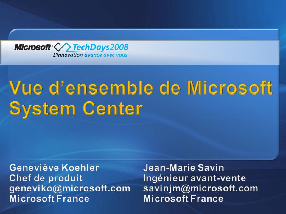 Vue d'ensemble de Microsoft System Center