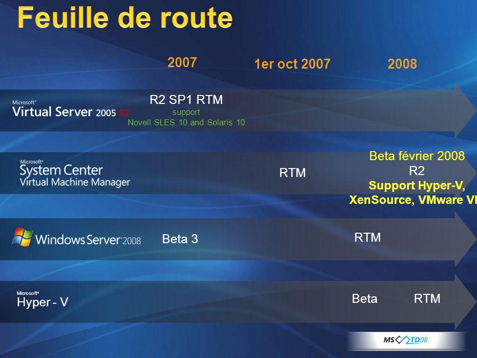 Support Hyper-V, XenSource, VMware VI3