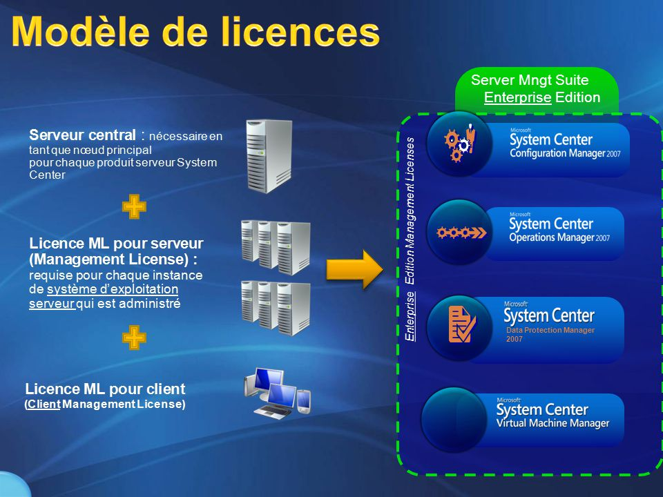 Modèle de licences Server Mngt Suite Enterprise Edition