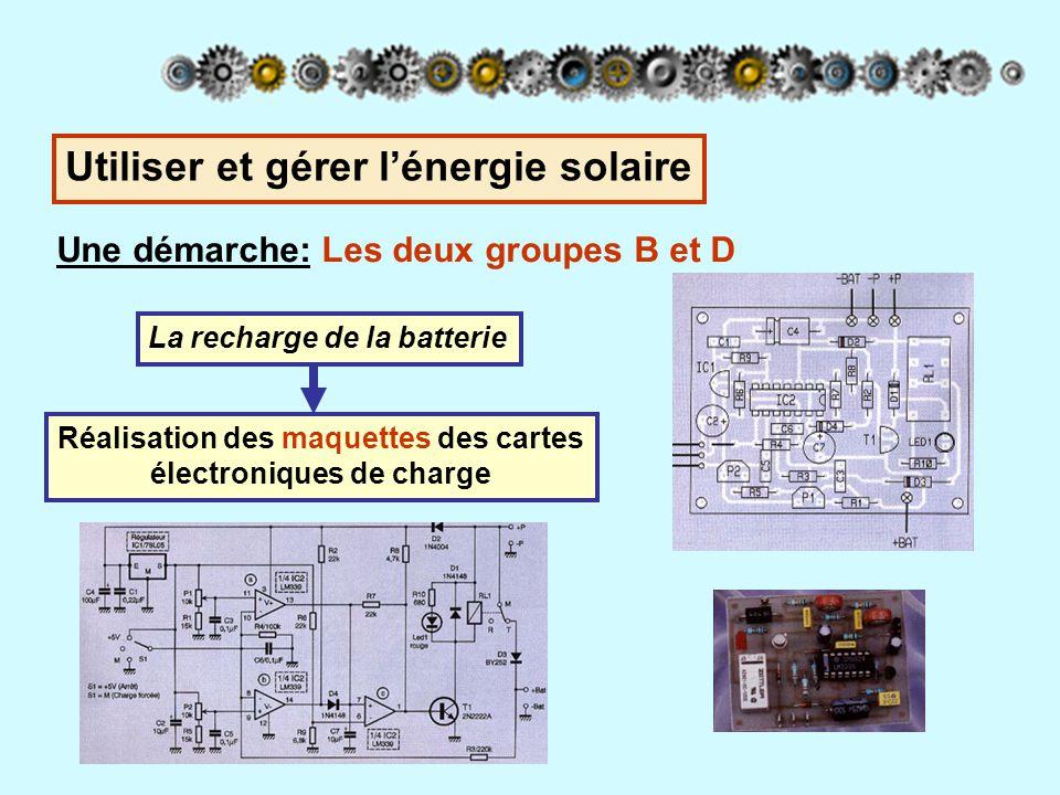 Réalisation des maquettes des cartes électroniques de charge