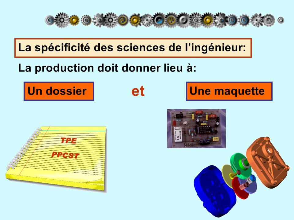 et La spécificité des sciences de l'ingénieur: