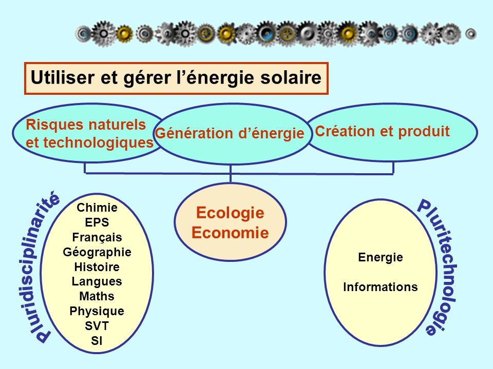 Utiliser et gérer l'énergie solaire