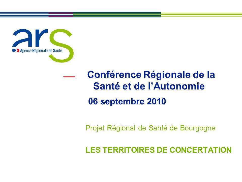 Conférence Régionale de la Santé et de l'Autonomie 06 septembre 2010