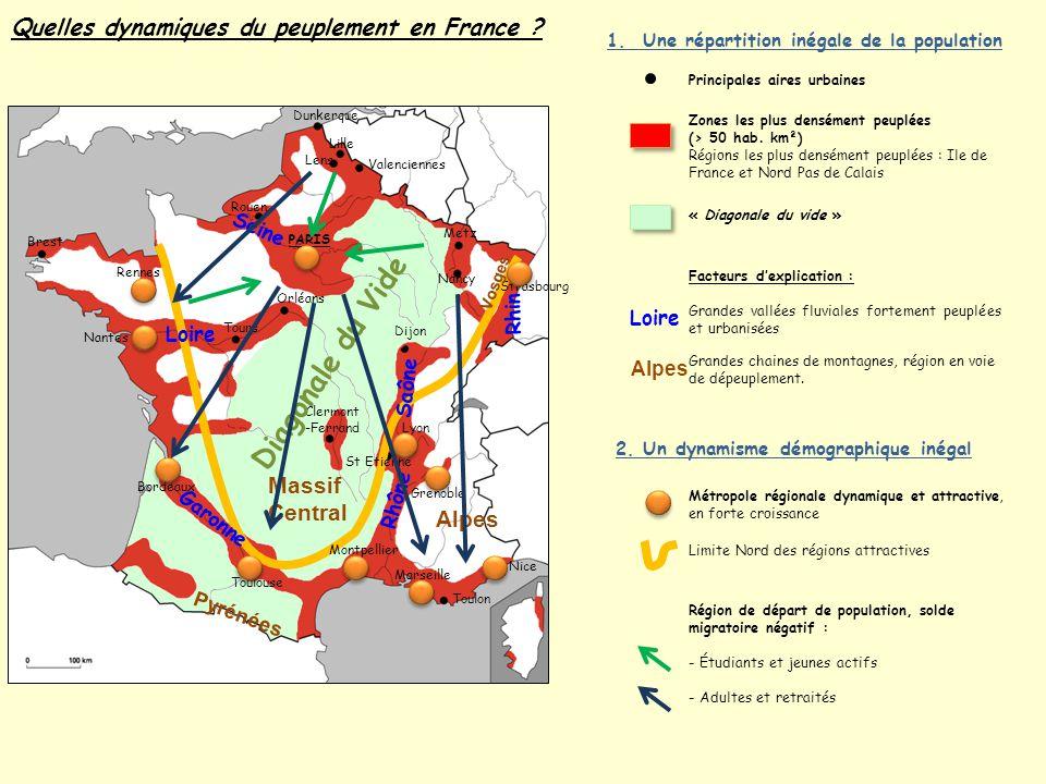 Diagonale du Vide Quelles dynamiques du peuplement en France Massif