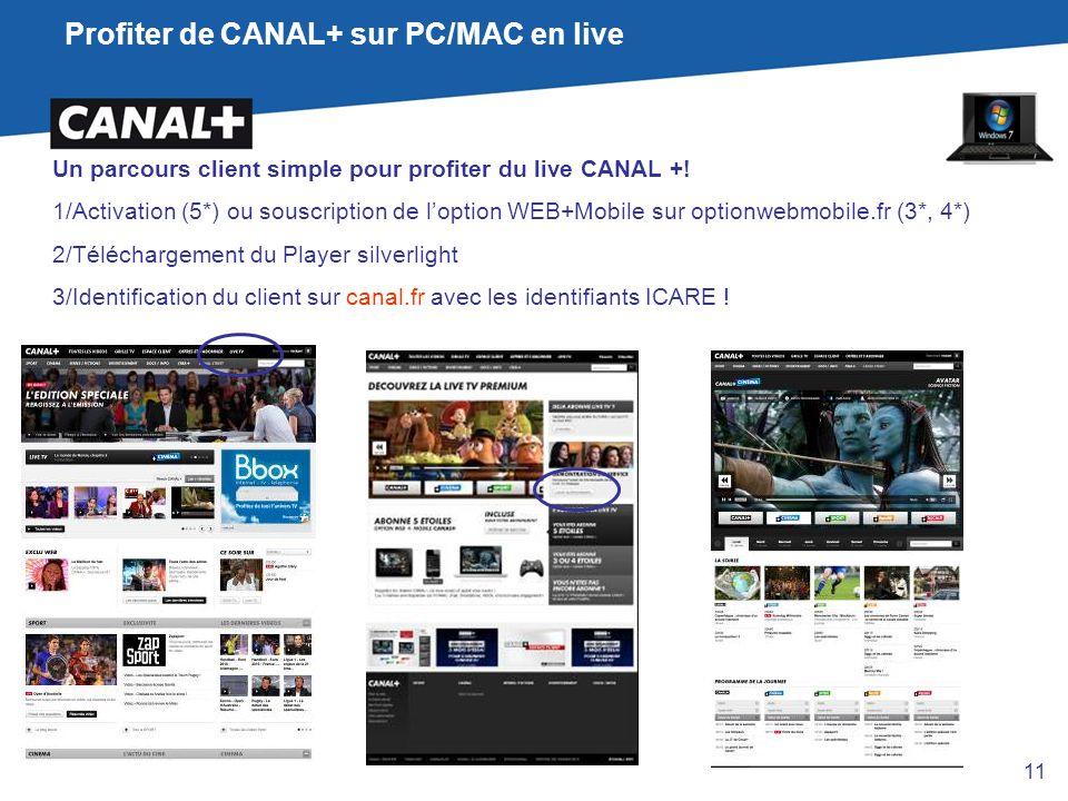 Profiter de CANAL+ sur PC/MAC en live