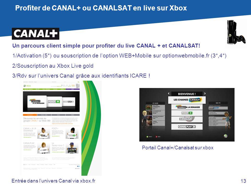 Profiter de CANAL+ ou CANALSAT en live sur Xbox