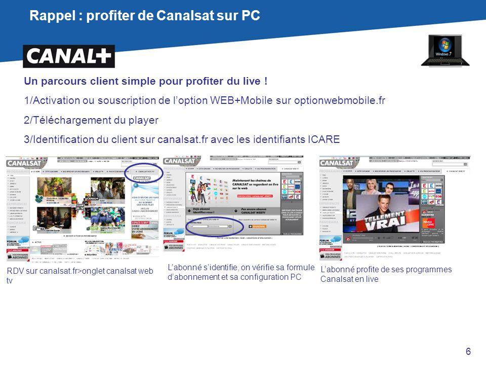 Rappel : profiter de Canalsat sur PC