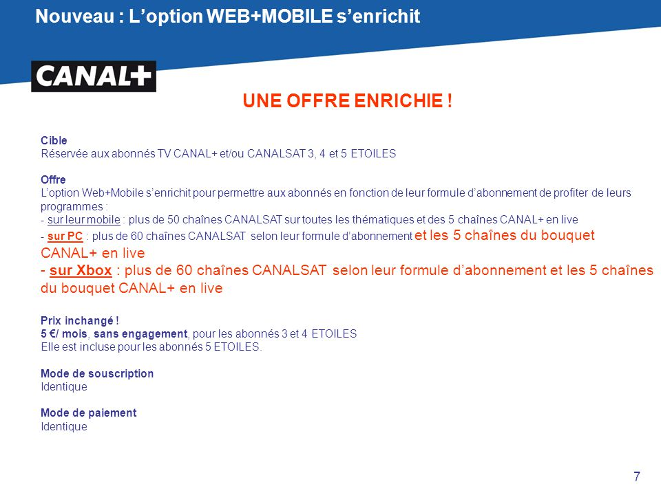 Nouveau : L'option WEB+MOBILE s'enrichit