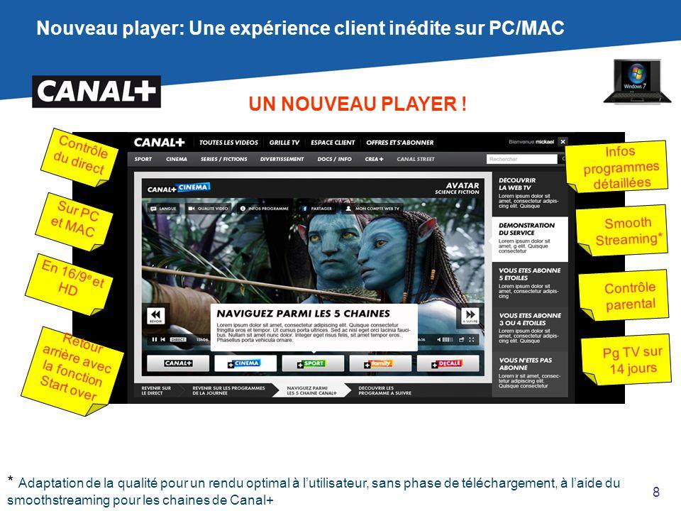 Nouveau player: Une expérience client inédite sur PC/MAC