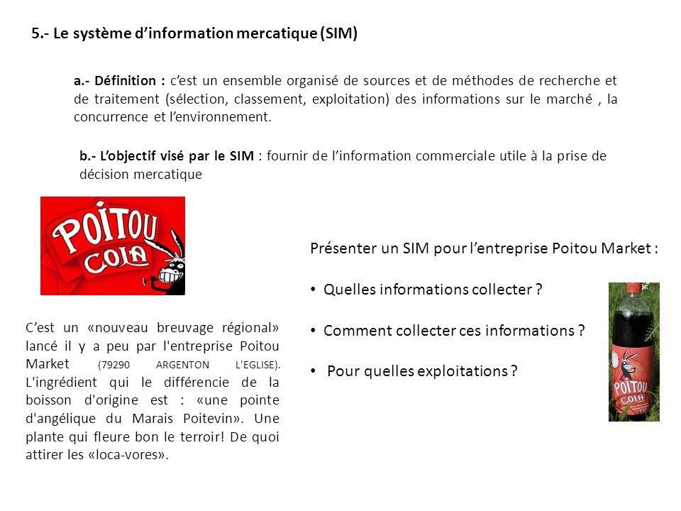 5.- Le système d'information mercatique (SIM)