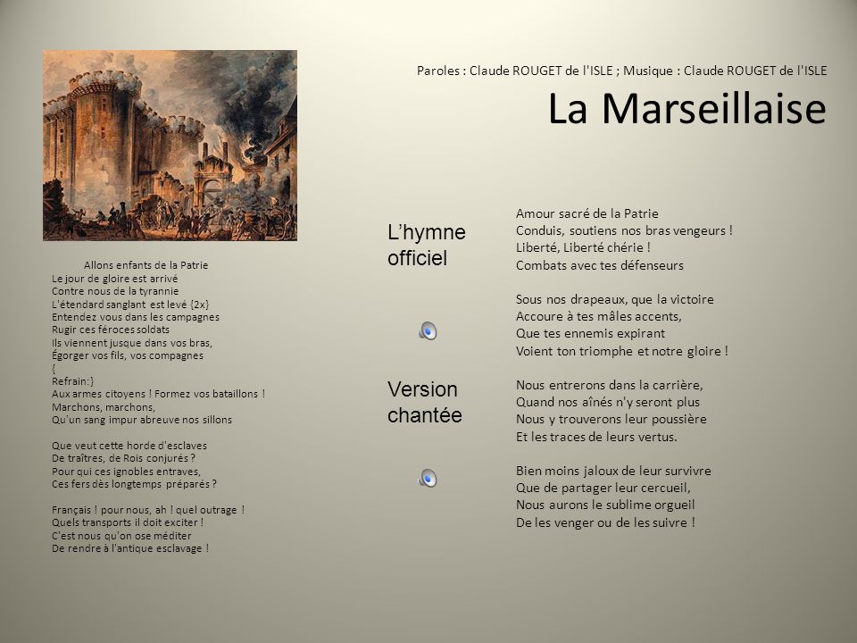 L'hymneofficiel Version chantée