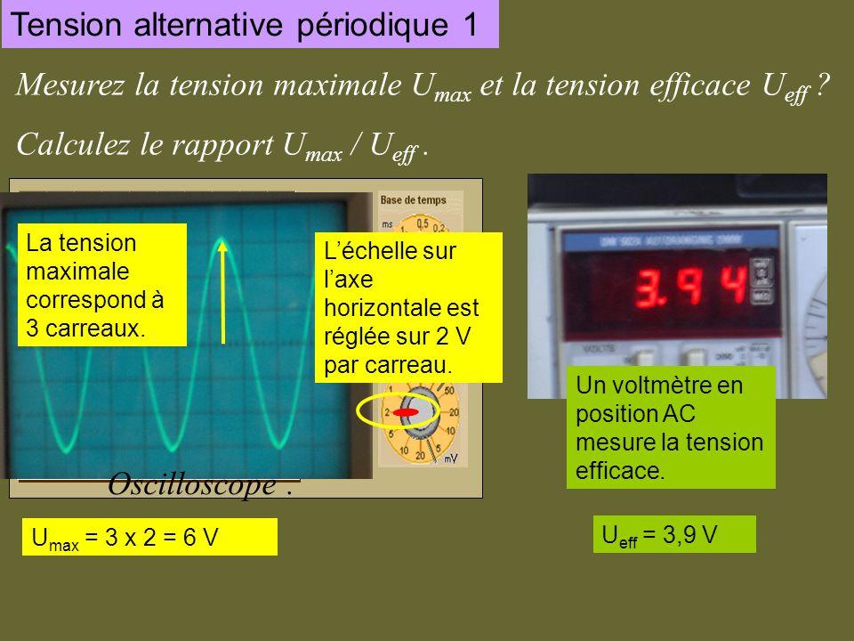 Voltmètre en position AC .