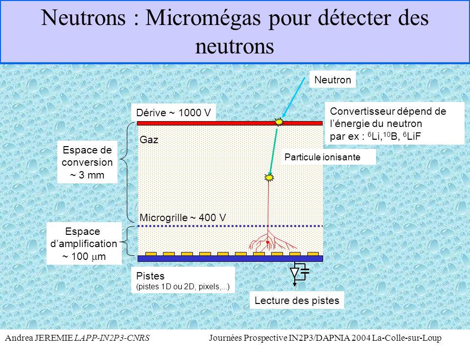 Neutrons : Micromégas pour détecter des neutrons