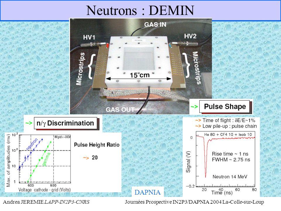Neutrons : DEMIN DAPNIA