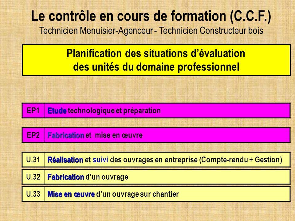 Le contrôle en cours de formation (C.C.F.)