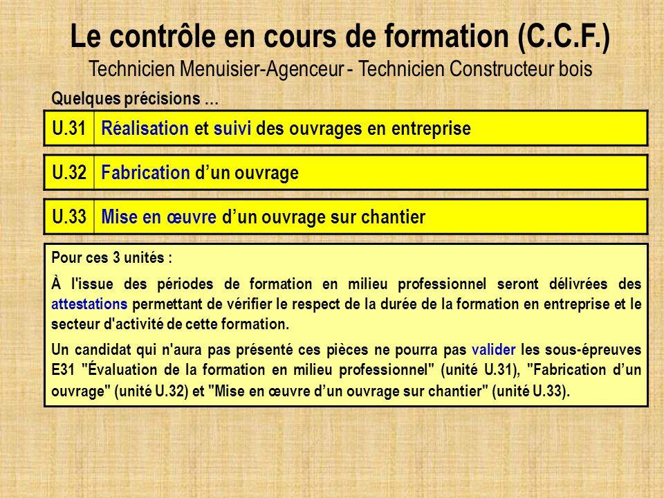 Le contrôle en cours de formation (C. C. F