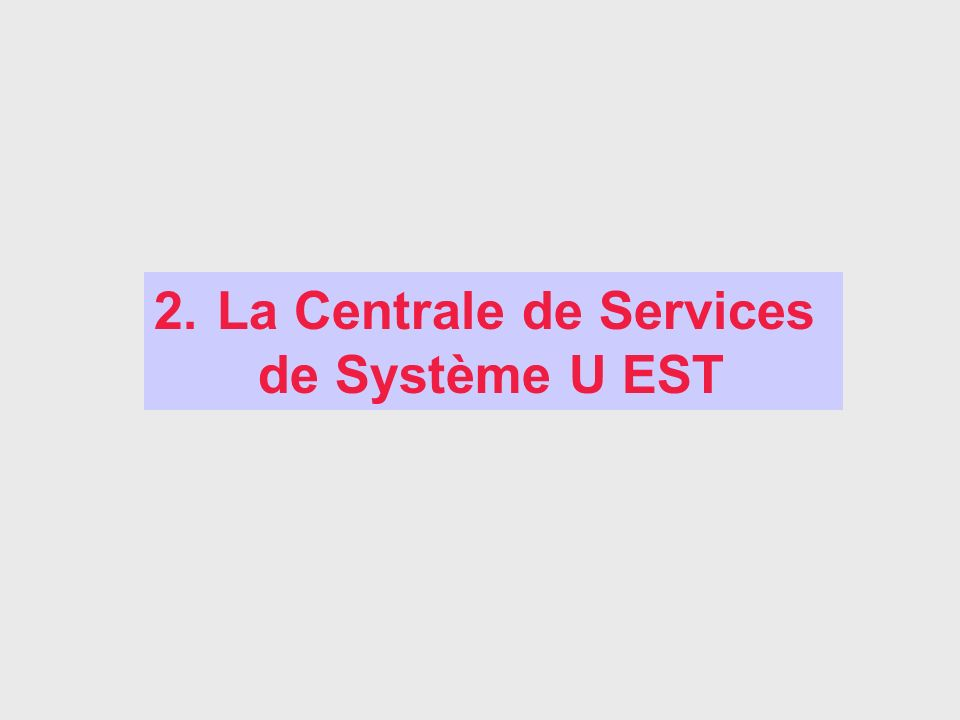 La Centrale de Services