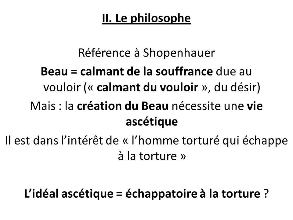 Référence à Shopenhauer