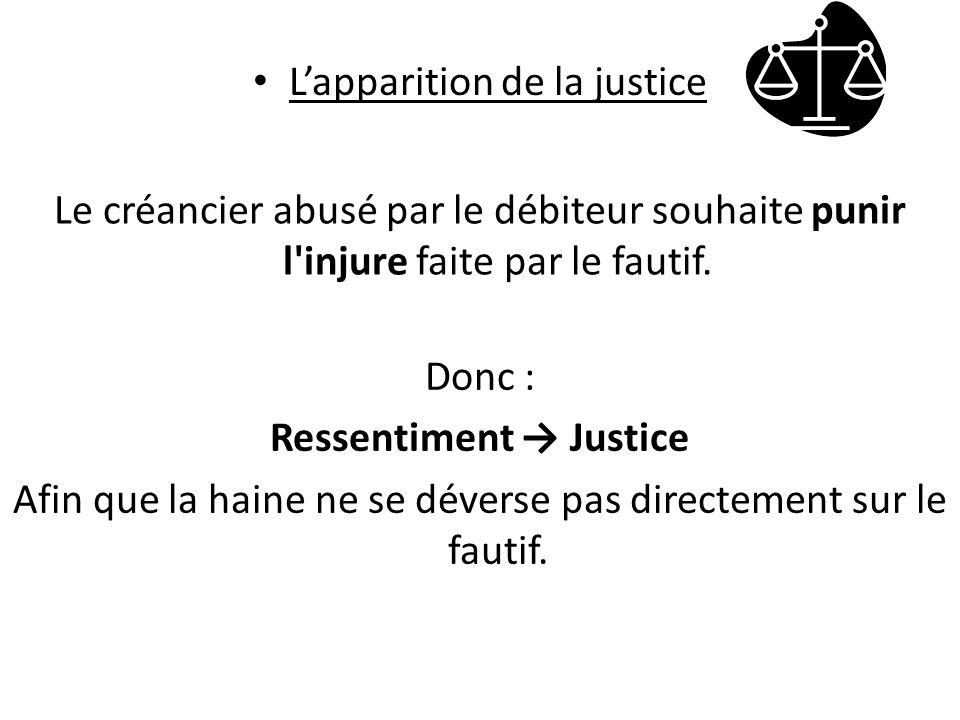 Ressentiment → Justice