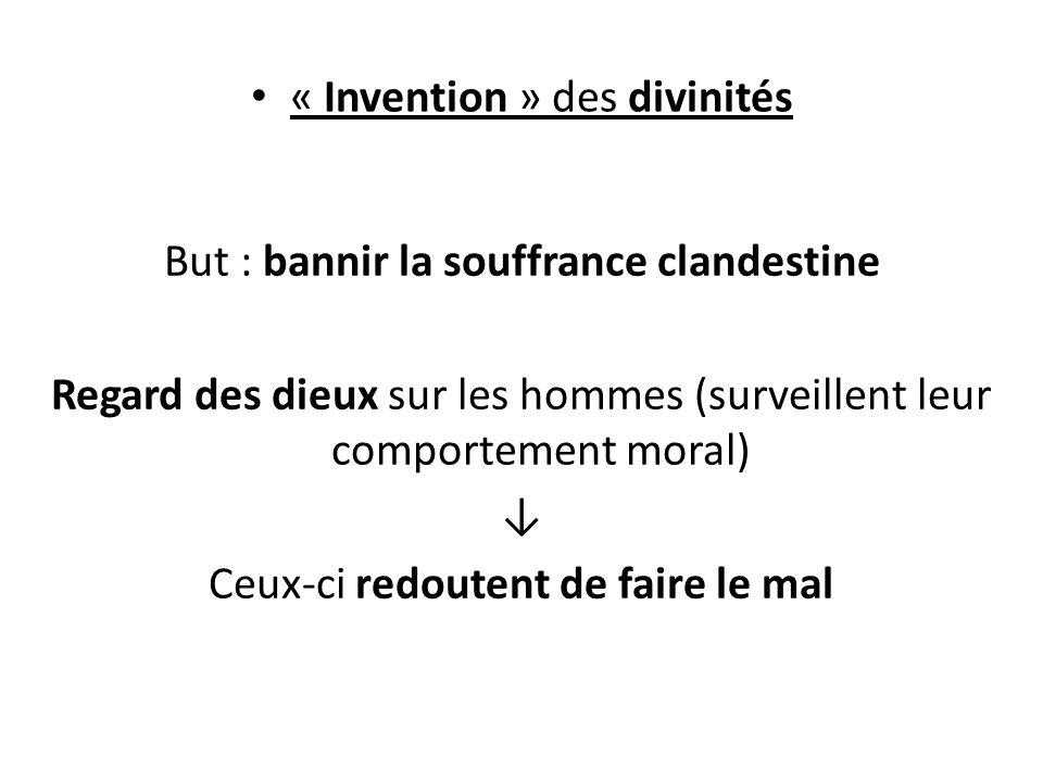 « Invention » des divinités
