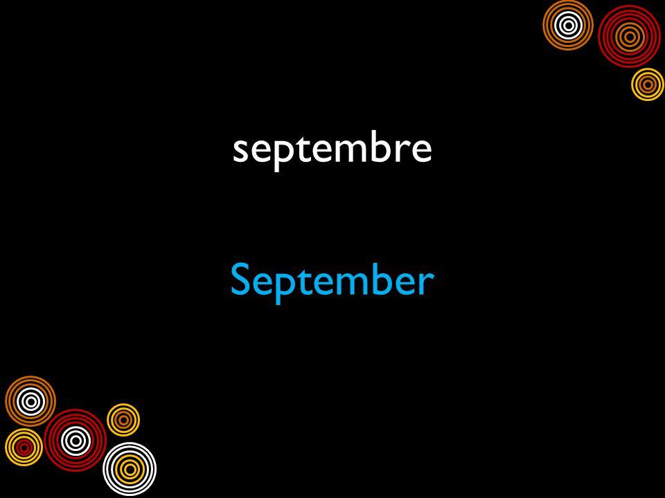 septembre September