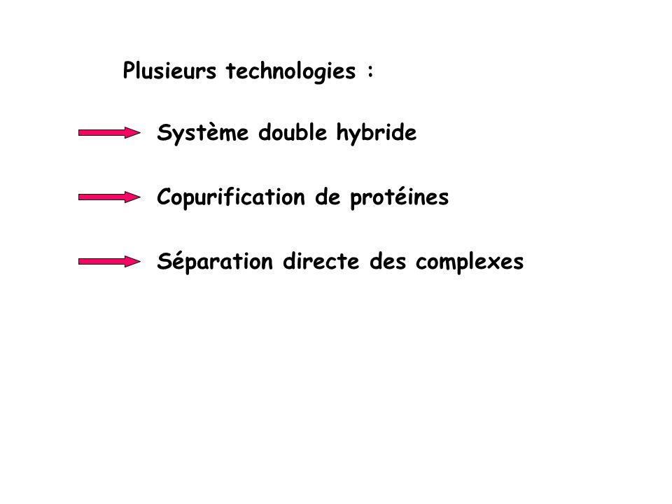 Plusieurs technologies :