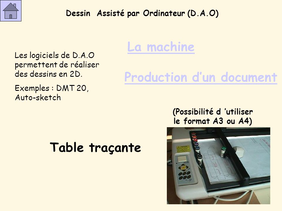 Production d'un document