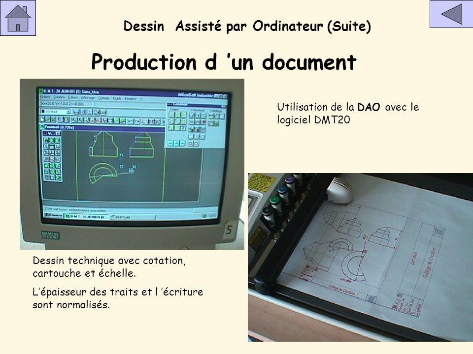 Production d 'un document