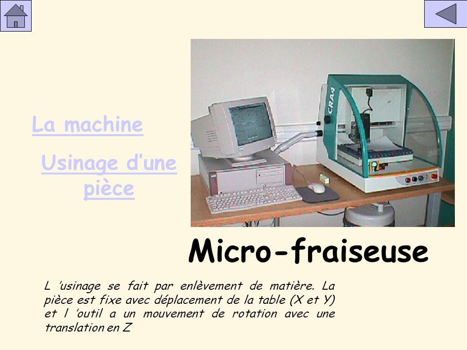 Micro-fraiseuse La machine Usinage d'une pièce