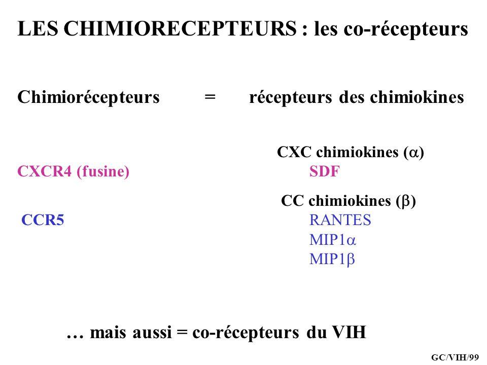 LES CHIMIORECEPTEURS : les co-récepteurs