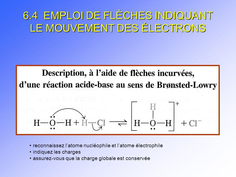 6.4 EMPLOI DE FLÈCHES INDIQUANT LE MOUVEMENT DES ÉLECTRONS
