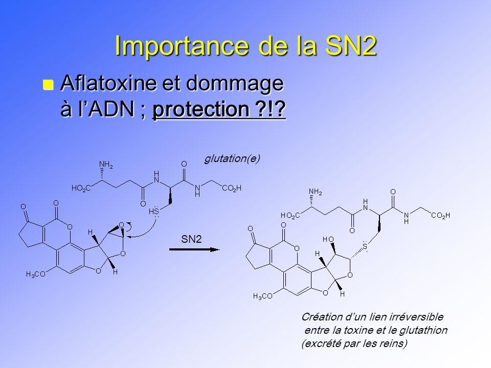Importance de la SN2 Aflatoxine et dommage à l'ADN ; protection !
