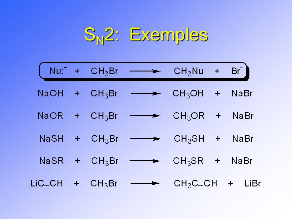 SN2: Exemples -
