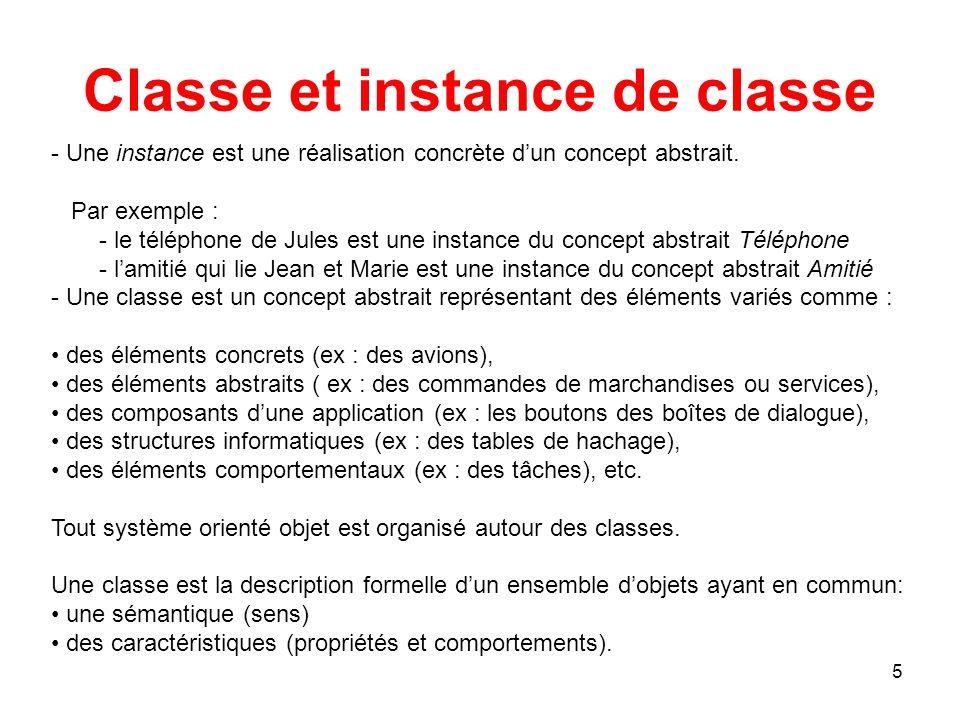 Classe et instance de classe