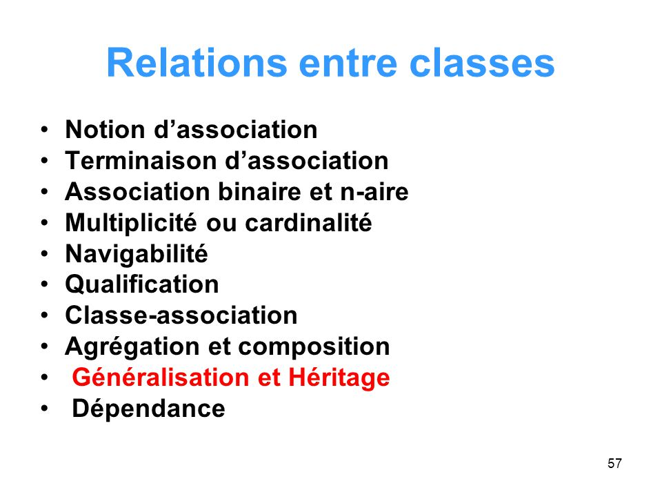 Relations entre classes