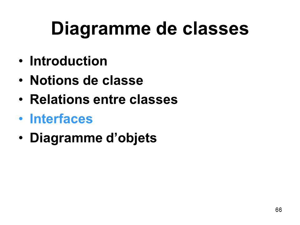 Diagramme de classes Introduction Notions de classe