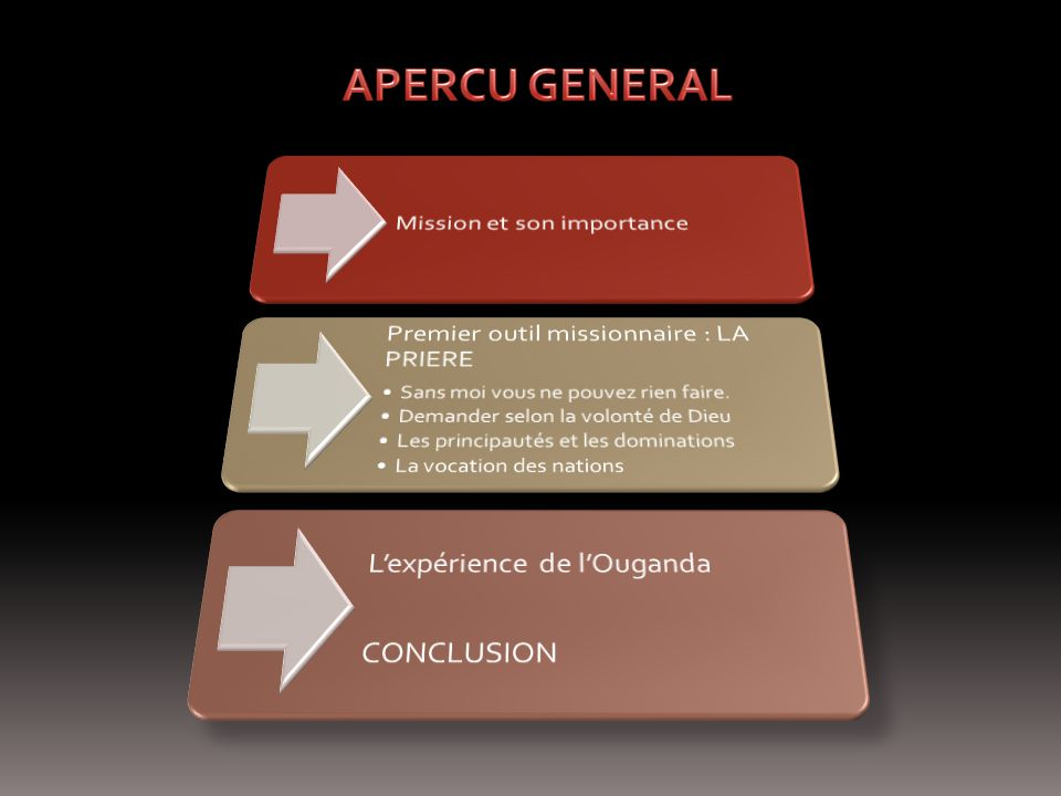 APERCU GENERAL Mission et son importance