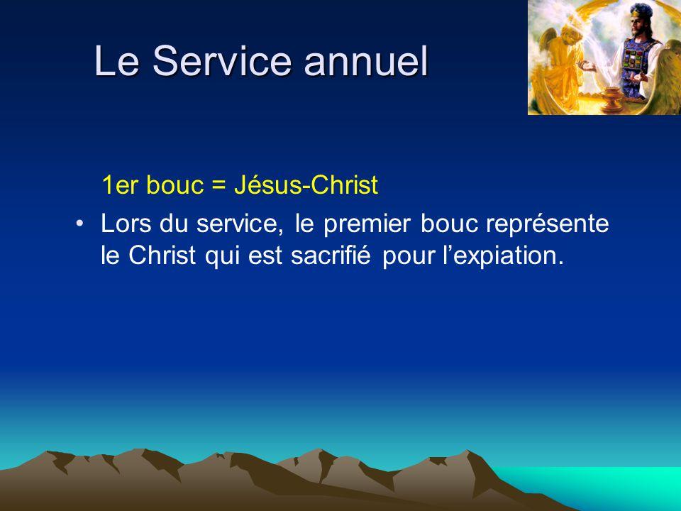 Le Service annuel 1er bouc = Jésus-Christ