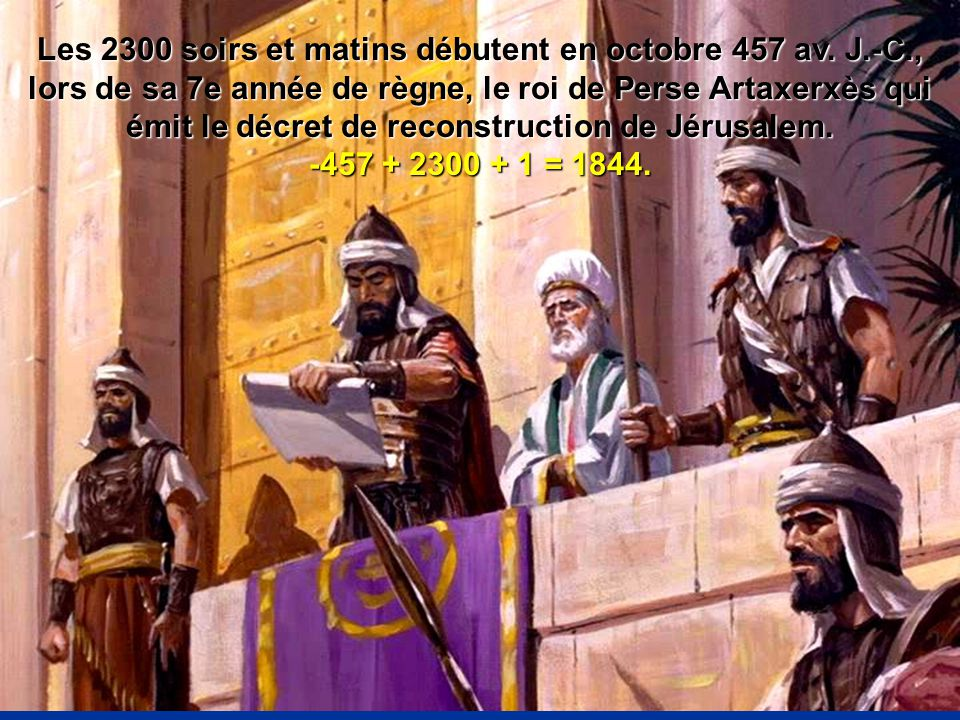 Les 2300 soirs et matins débutent en octobre 457 av. J. -C