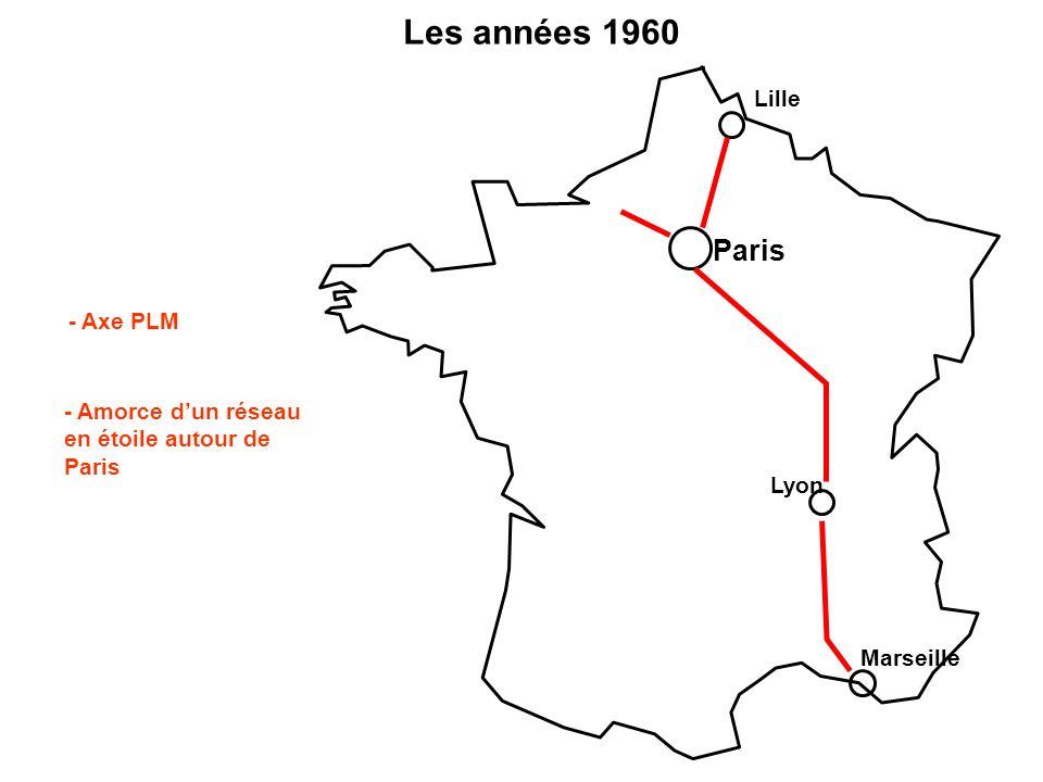 Les années 1960 Paris Lille - Axe PLM