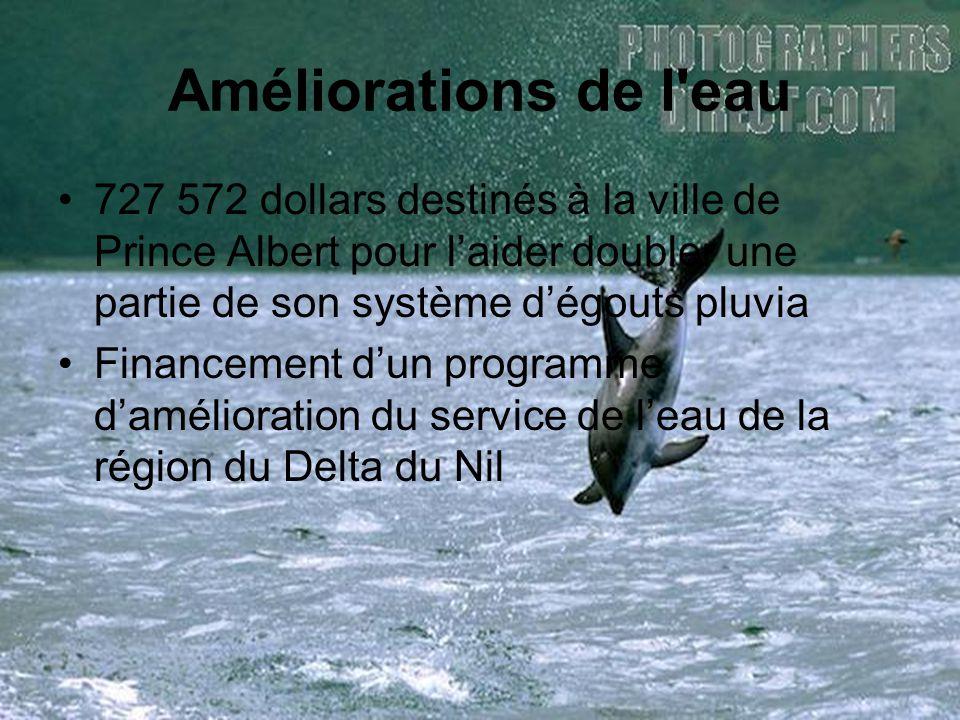 Améliorations de l eau 727 572 dollars destinés à la ville de Prince Albert pour l'aider doubler une partie de son système d'égouts pluvia.