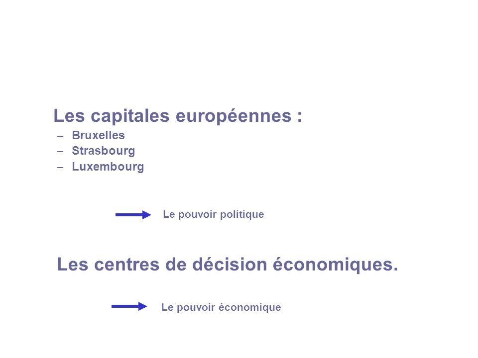 Les capitales européennes :