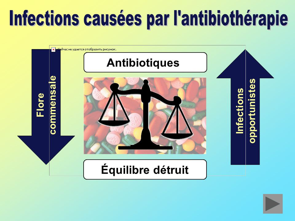Infections causées par l antibiothérapie