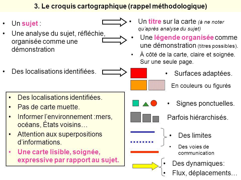 3. Le croquis cartographique (rappel méthodologique)