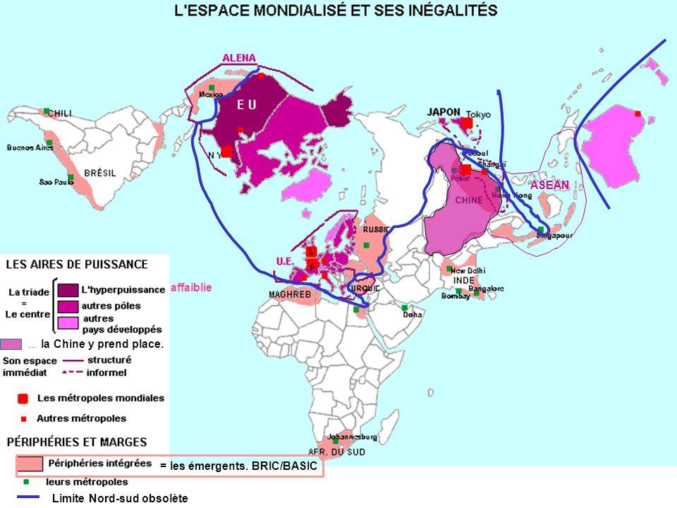 ASEAN affaiblie ... la Chine y prend place. = les émergents. BRIC/BASIC Limite Nord-sud obsolète