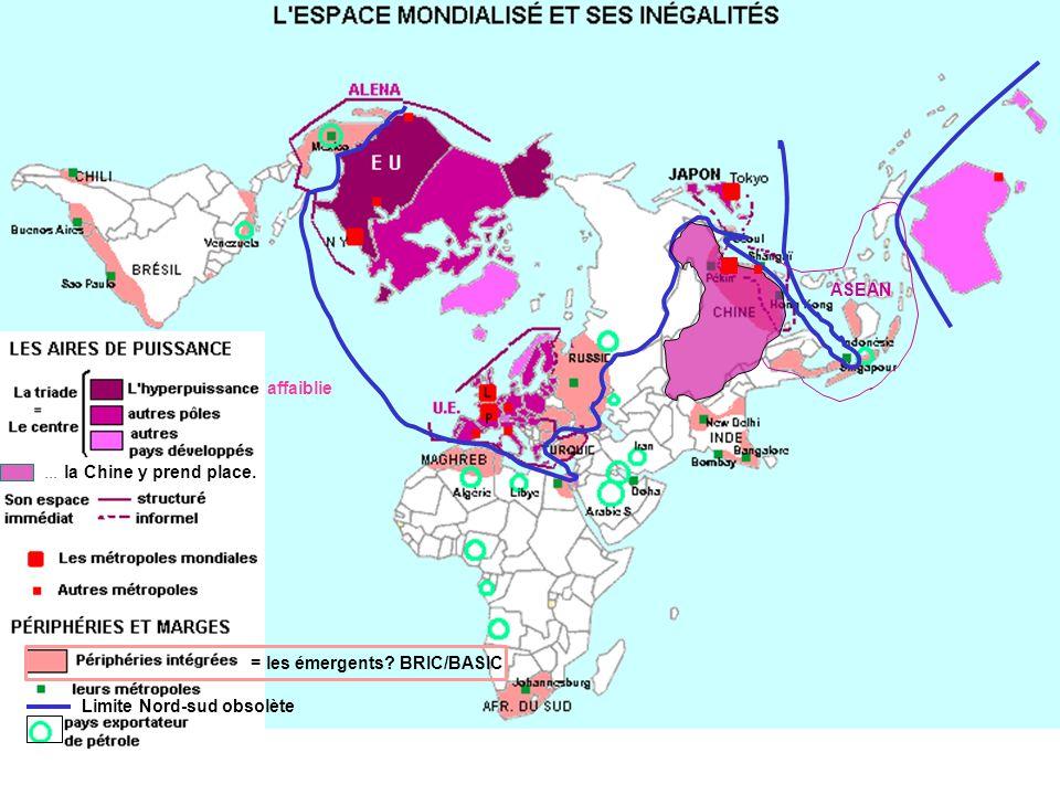 ASEAN affaiblie ... la Chine y prend place. = les émergents BRIC/BASIC Limite Nord-sud obsolète