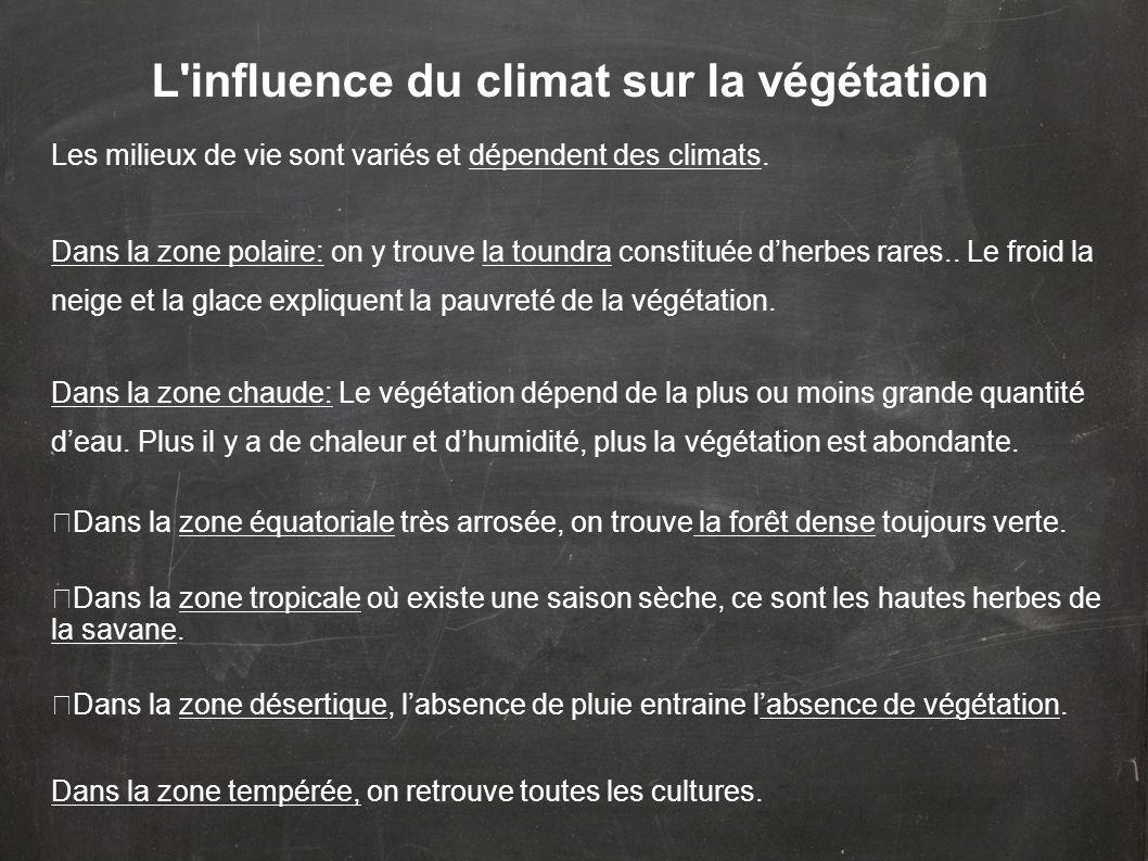 L influence du climat sur la végétation