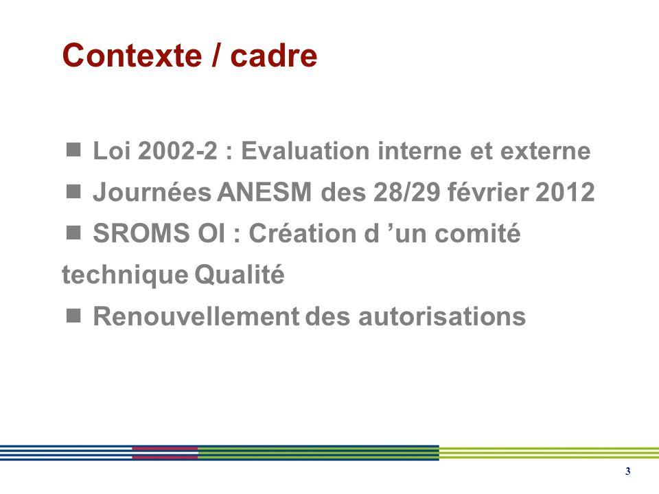 Contexte / cadre