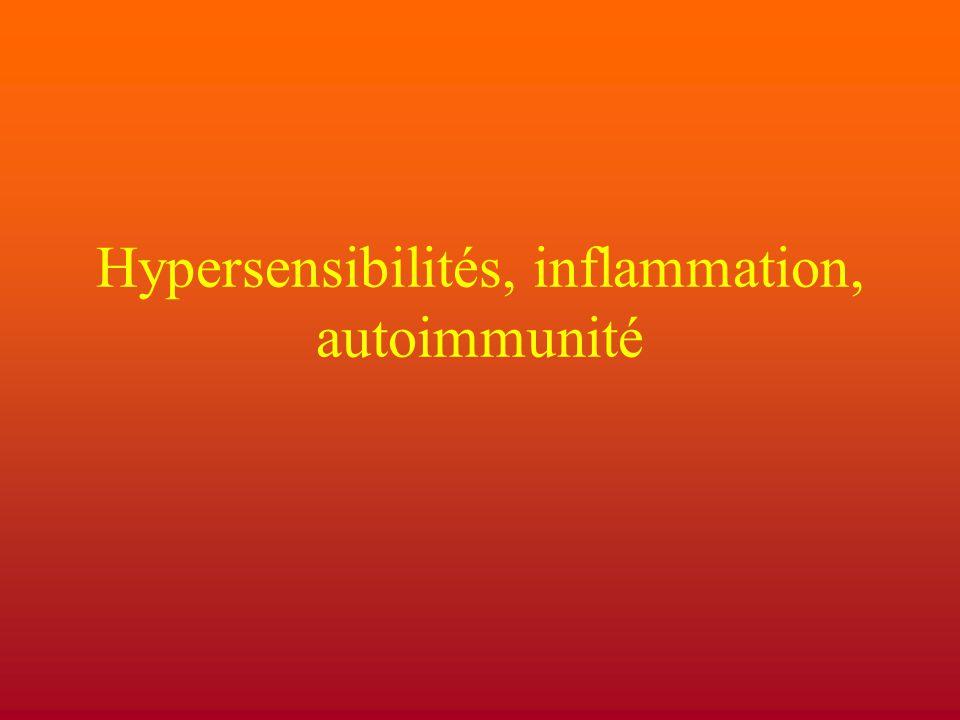 Hypersensibilités, inflammation, autoimmunité