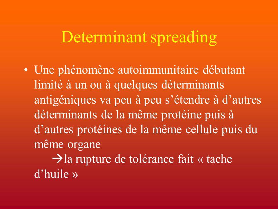 Determinant spreading